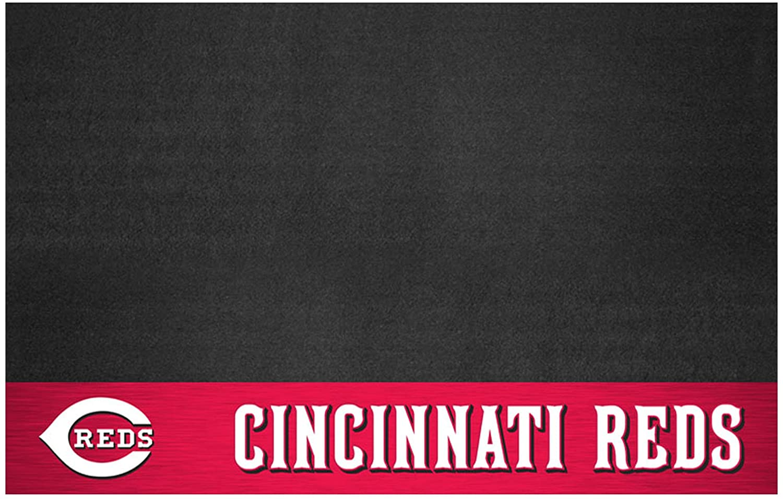FANMATS MLB Cincinnati Reds Vinyl Grill Mat
