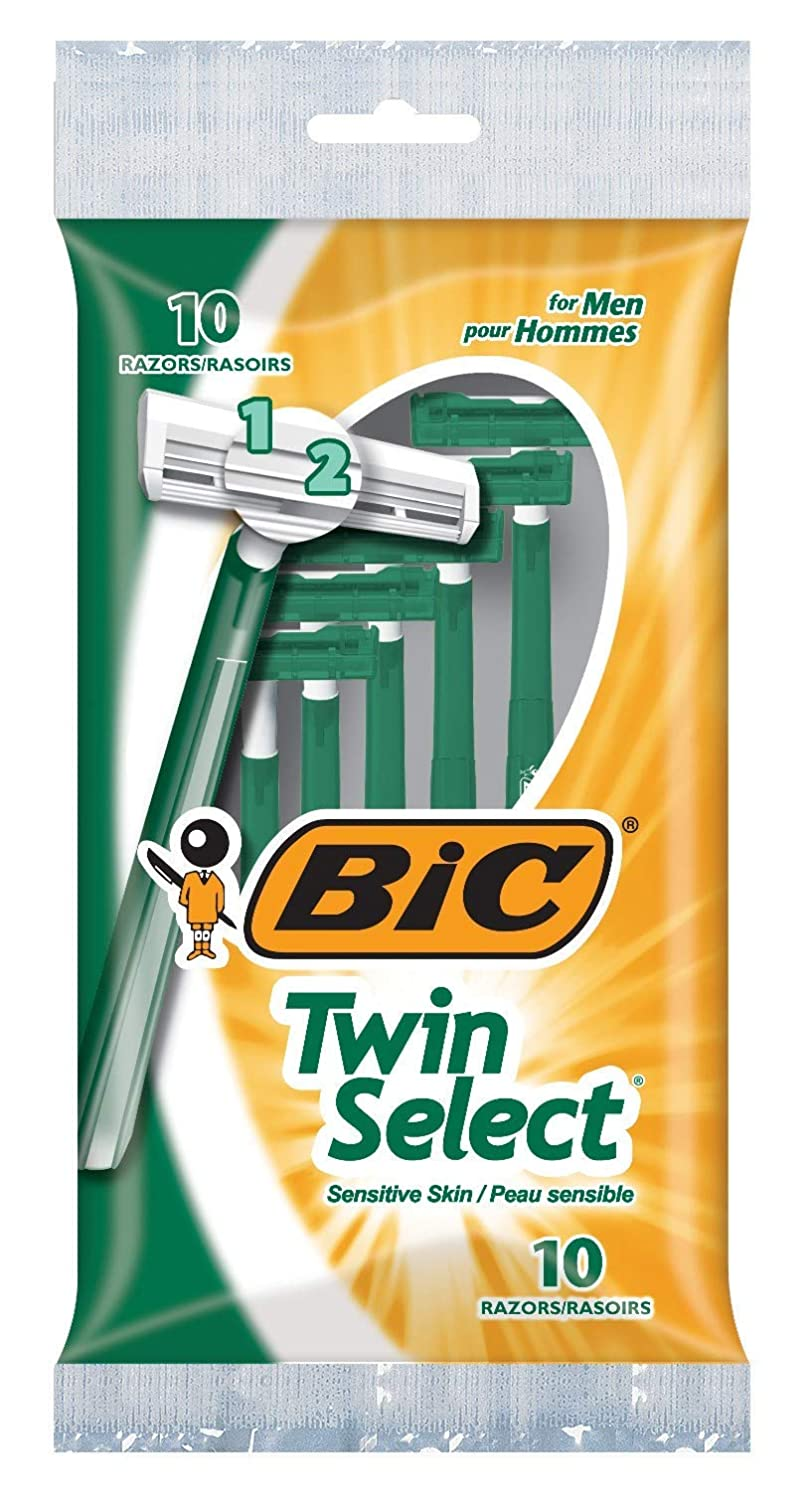 Bic Shaver Mens Twin Select Sensitive 10 Count (Pack of 2)