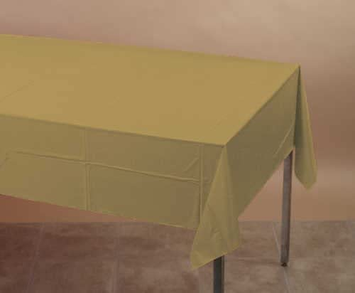 Glittering Gold 2-Ply Paper/Poly Tablecloth 54
