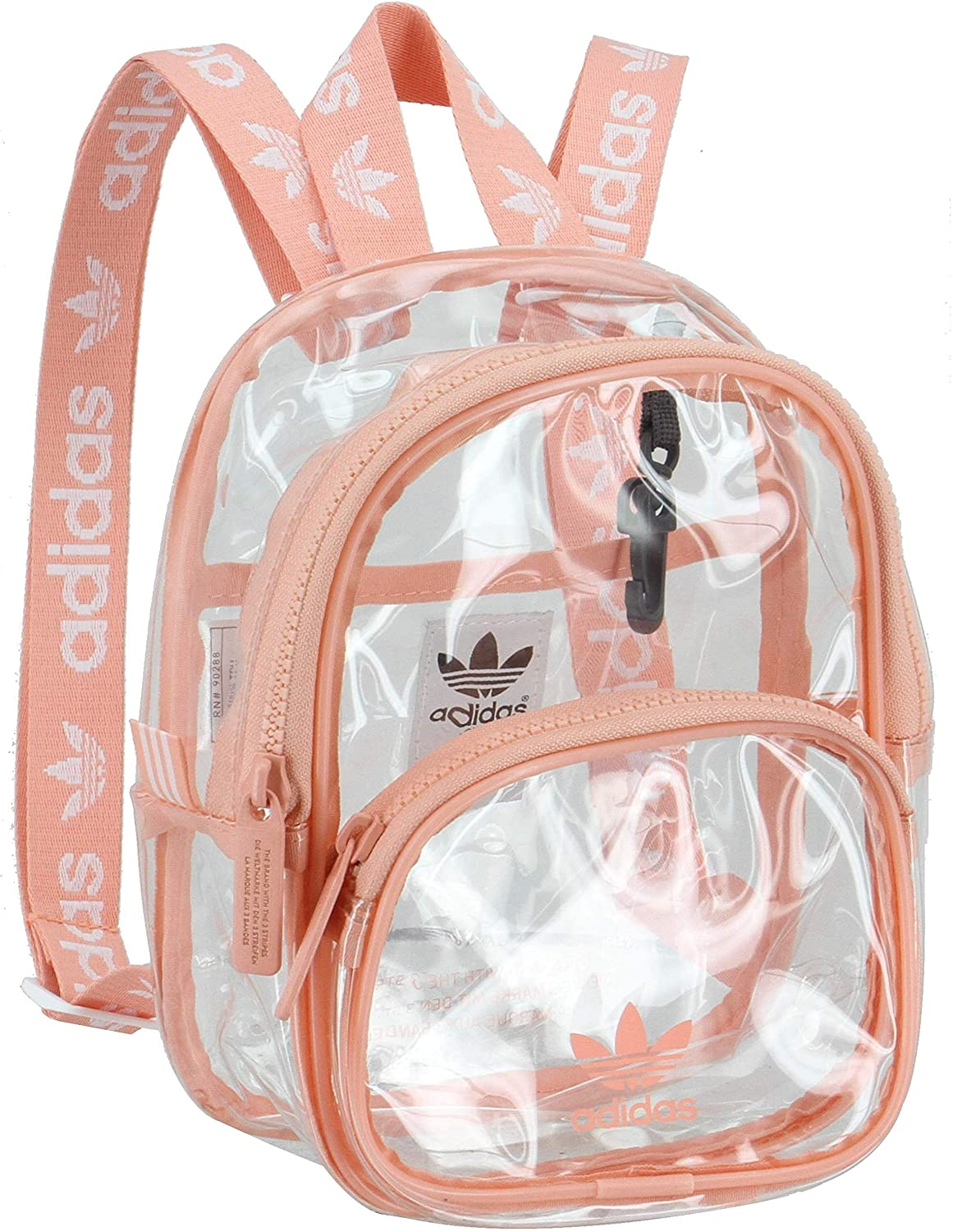 adidas Originals Unisex Clear Mini Backpack, Dust Pink, ONE SIZE