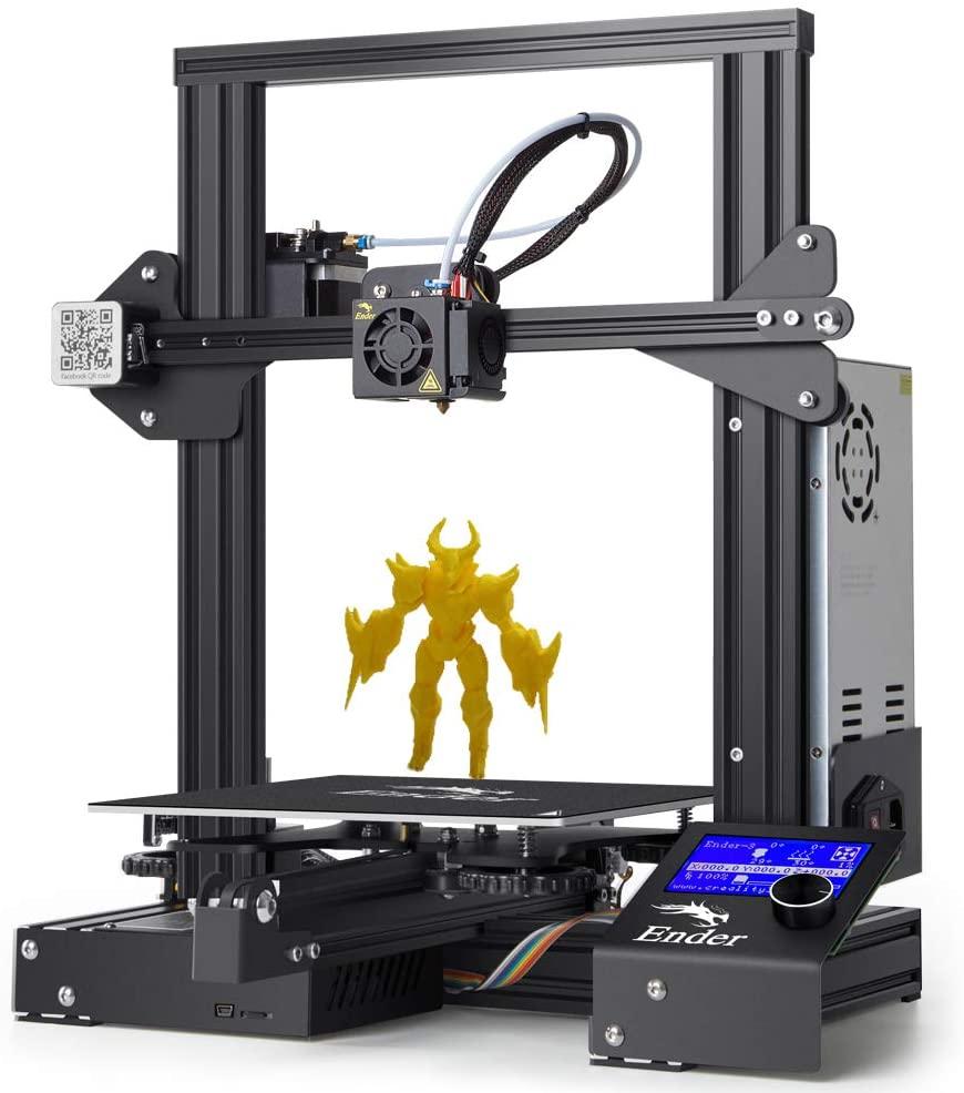 LOKE 3D Printer Ender 3 3D Scanner Aluminum DIY with Resume Print 220x220x250mm,Ender3