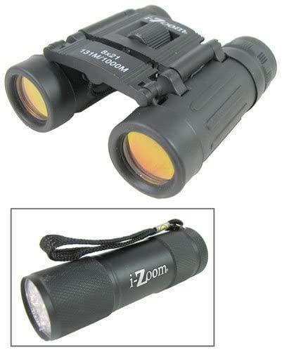 iZoom 8 x 21 Folding Binocular with LED Flashlight