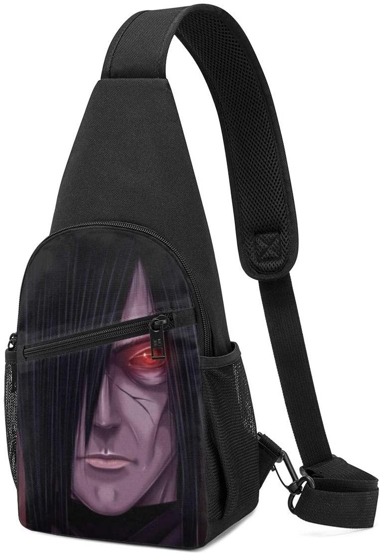JIGFfkhal Japanese Anime Fashion Chest Bag Naruto Fashion Casual Chest Bag, Fashion Leisure Travel Adjustable Crossbody Bag
