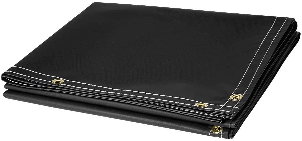 Steiner 336-6X8 13-Ounce Flame Retardant Opaque Vinyl Laminated Polyester Welding Curtain, Black, 6' x 8'