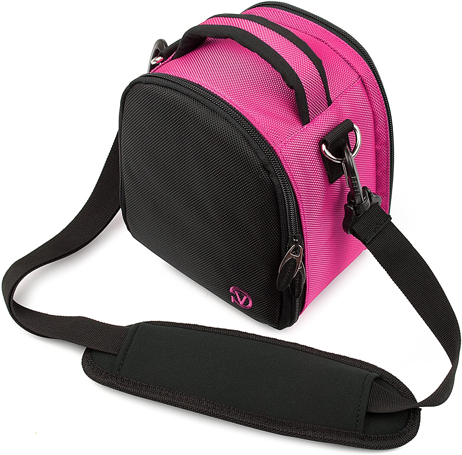 Ultralight Camera Case Hot Pink Bag with Attachable Strap for Ricoh WG M2 GR II WG 50 WG 5 GPS WG 30 Wi fi Theta V SC S m15