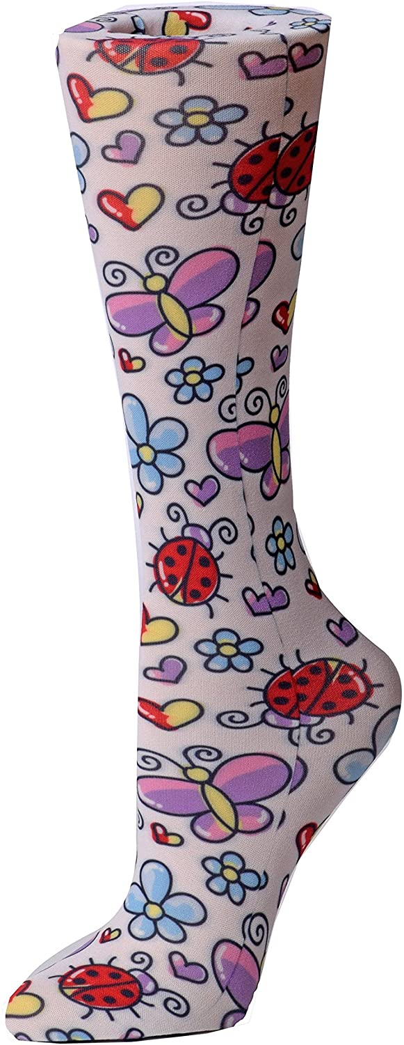 Cutieful Therapeutic Graduated 8-15 mmHg Compression Socks - Bugs