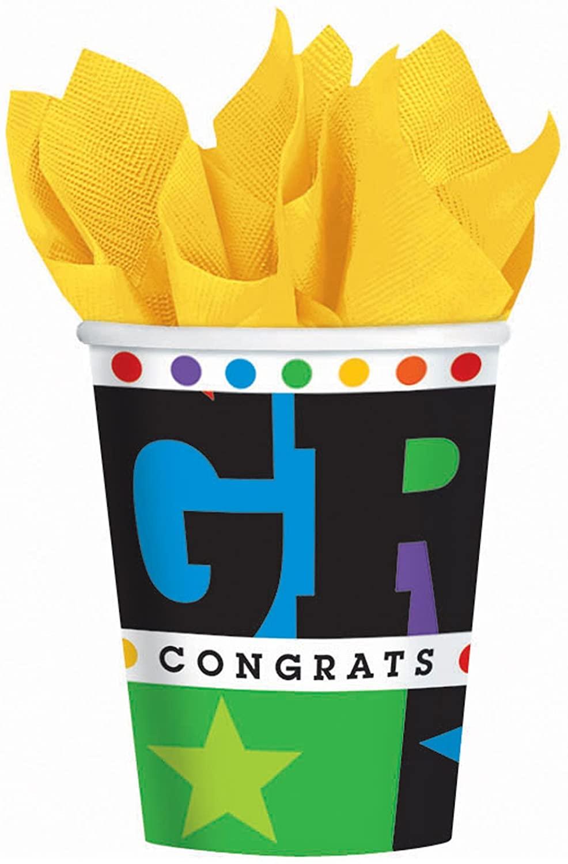 Bright Grad Graduation 9 oz. Cups