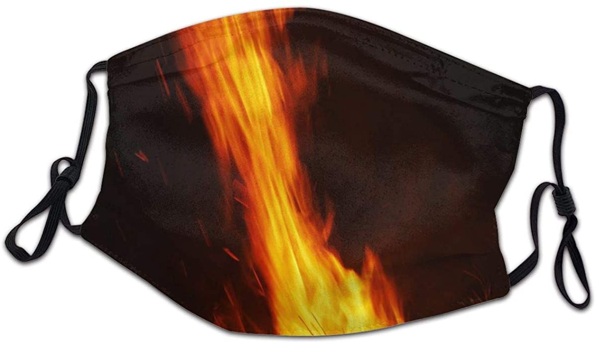 Firewood Flames Face Bandanas for Kids Boys Girls Dust-Proof Facial Protective