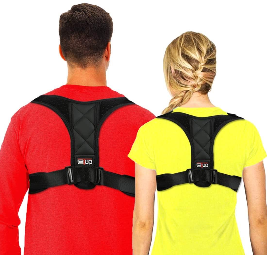 Posture Corrector for Women and Men Under Clothes, BTUP Light Breathable Back Brace for Neck Shoulder Upper Back Pain Relief, Chest Size: 27