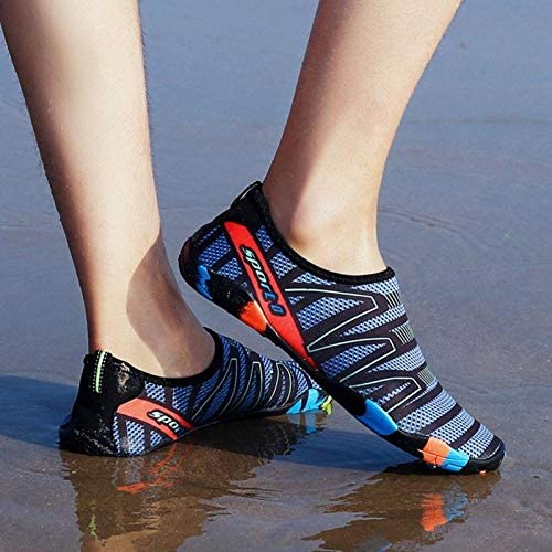 Linmatealliance Outdoor&Sports Outdoor&Sports Shoes Swimming Water Sports Seaside Beach Surfing Slippers Light Athletic Footwear Unisex Sneakers for Men and Women, Shoe Size:44(Gray)
