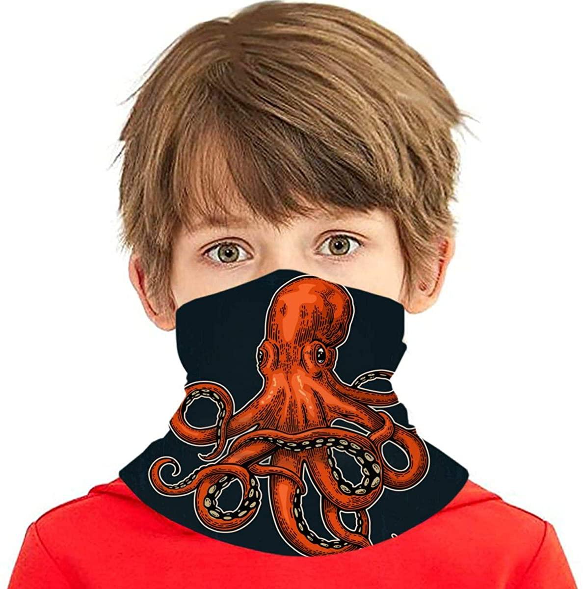 Octopus Sea Monster Neck Gaiter Balaclava Bandana Headwear Cooling Scarf Variety Face Towel