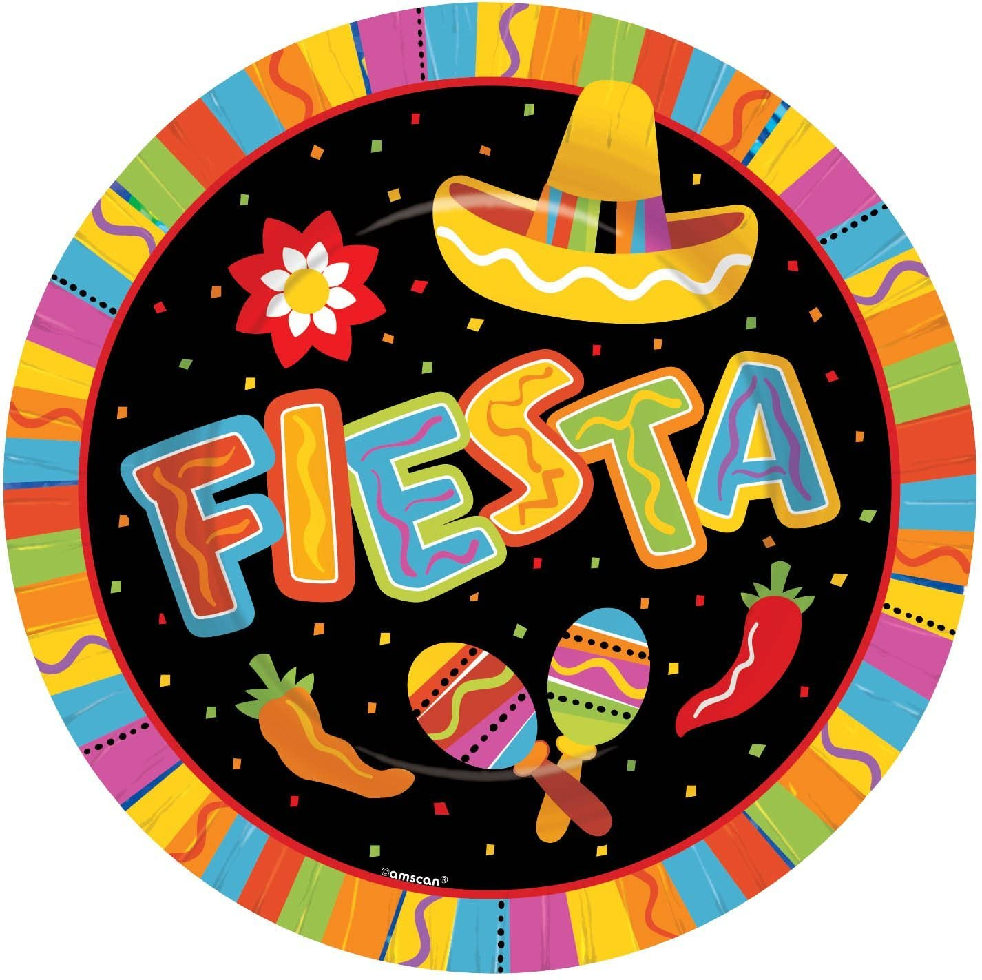 Fiesta Fun 10.5in Dinner Plates Party Accessory (8 ct) by Amscan