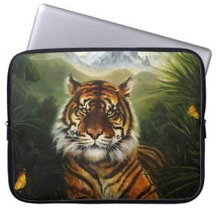 Jungle Tiger Landscape Laptop Sleeve Bag Notebook Computer PC Neoprene Protection Zipper Case Cover 13 Inch