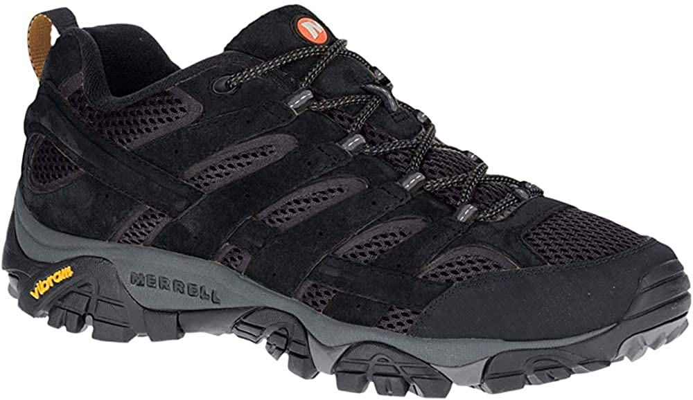 Merrell Mens Moab 2 Vent Hiking Shoe, Black Night