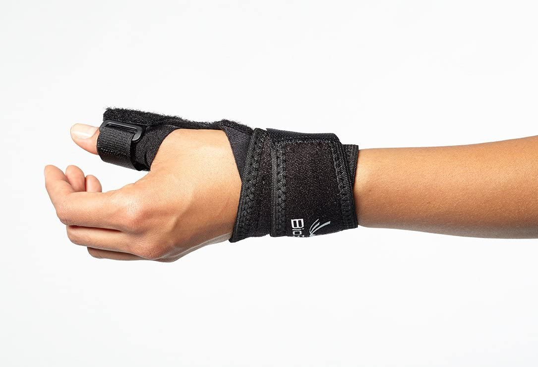 Thumb Stabilizer Brace - Lightweight, Hypoallergenic Support for Thumb Sprains, De Quervains, Arthritis, and Bursitis Pain - Thumb Spica by BioSkin (XSmall-Medium)