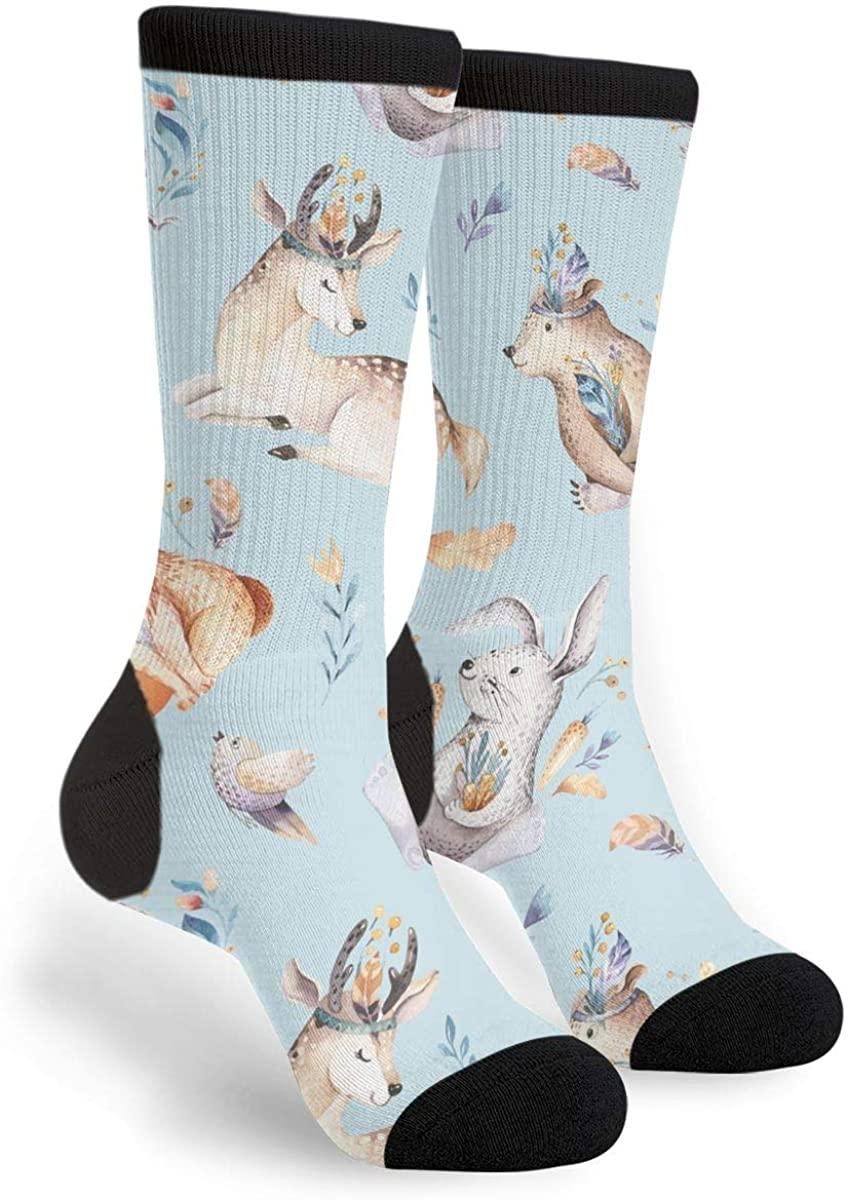 Watercolor Cute Baby Fox Novelty Socks For Women & Men One Size - Gifts
