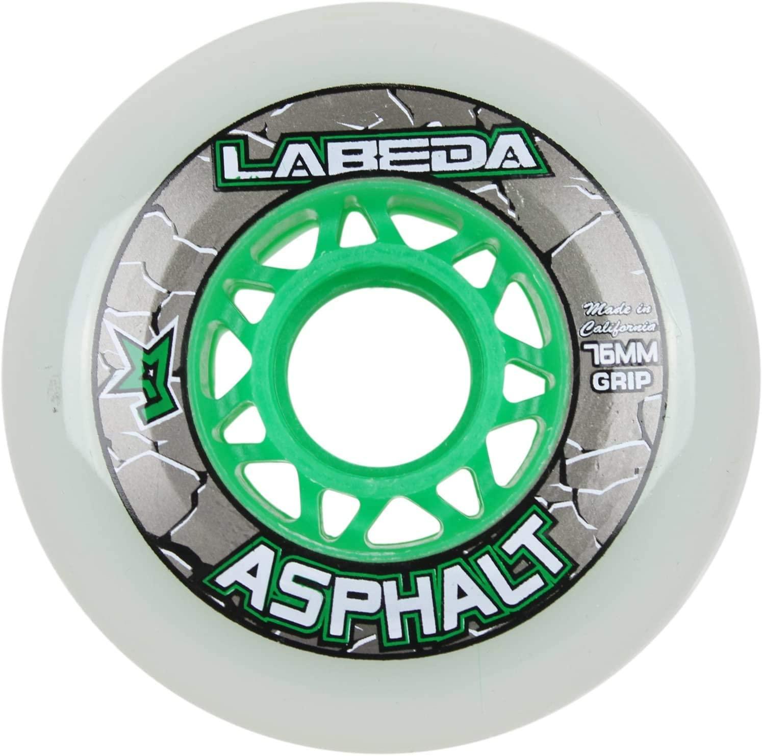Labeda Wheels Inline Roller Hockey Gripper Asphalt Outdoor White 76mm 83A x1