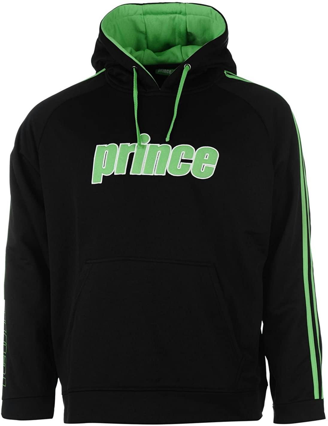 Prince Pullover Men`s Hoodie Black/Green (Large)