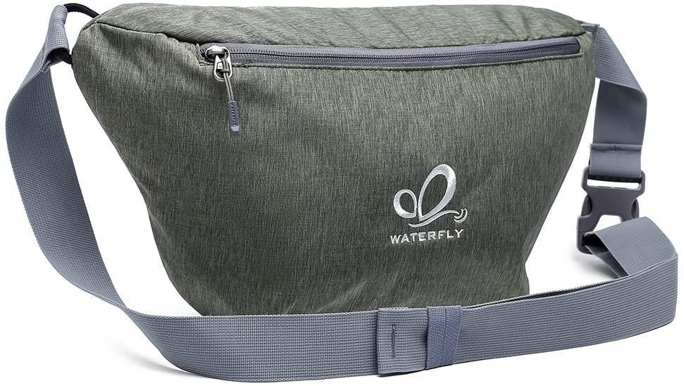 WATERFLY Sling Bag Ultra-Light Chest Crossbody Bag Large Capacity Men Women