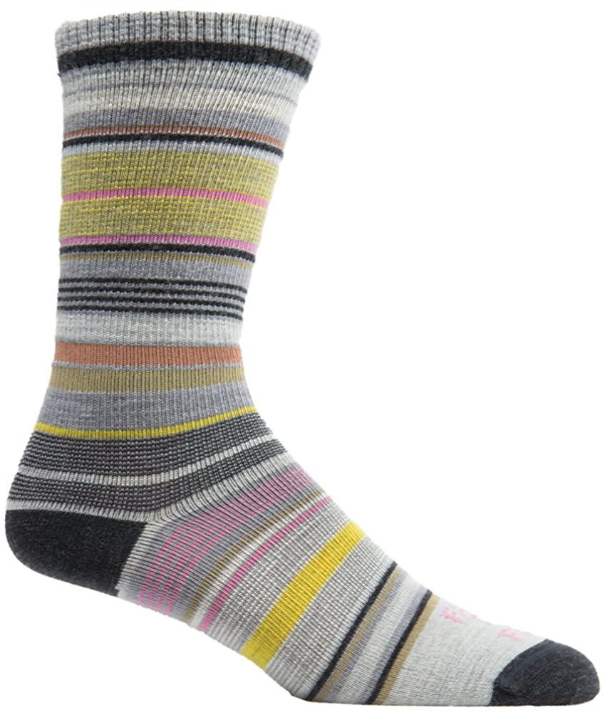 Farm to Feet Women's Ithaca Lightweight Crew Socks, Charcoal/Silver Heather, Small