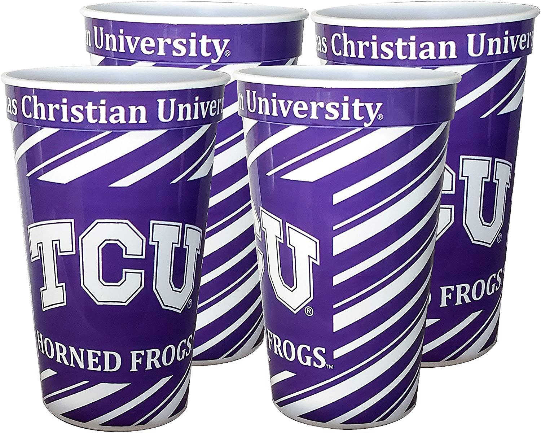 TCU Horned Frogs 22 oz Souvenir Cups - 4/pkg.
