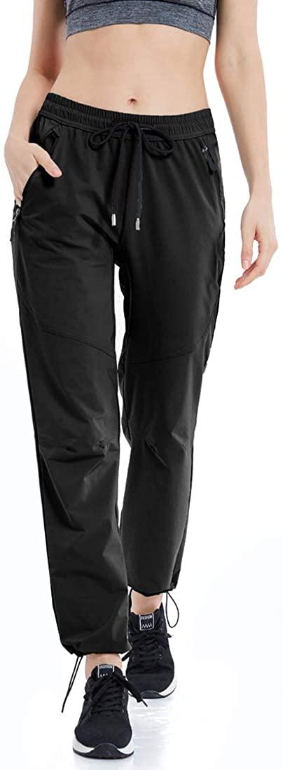 GMTTFOUR Women's Outdoor Hiking Pants Lightweight Quick Dry Cargo Capri Pants Water Resistant UPF 50 Zipper Pockets