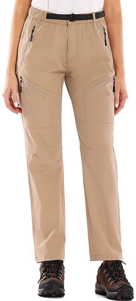 linlon Women's Hiking Pants Outdoor Quick Dry Lightweight Stretch Cargo Pants UPF 40 Fishing Safari Travel Pants