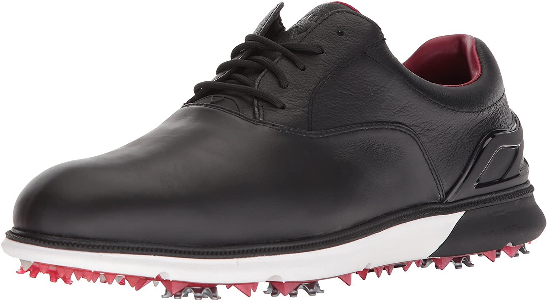 Callaway Men's LaGrange Golf Shoe, Black/White/red