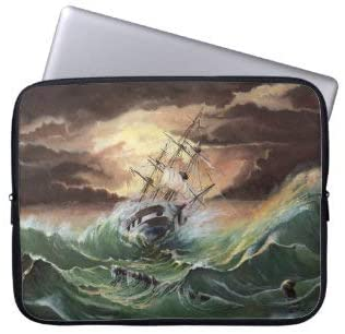 Ship Painting Laptop Sleeve Bag Notebook Computer PC Neoprene Protection Zipper Case Cover 13 Inch