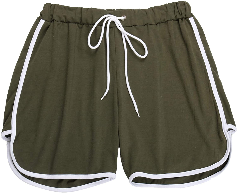 Spmor Women's Sports Drawstring Workout Shorts Yoga Running Shorts Hot Pants