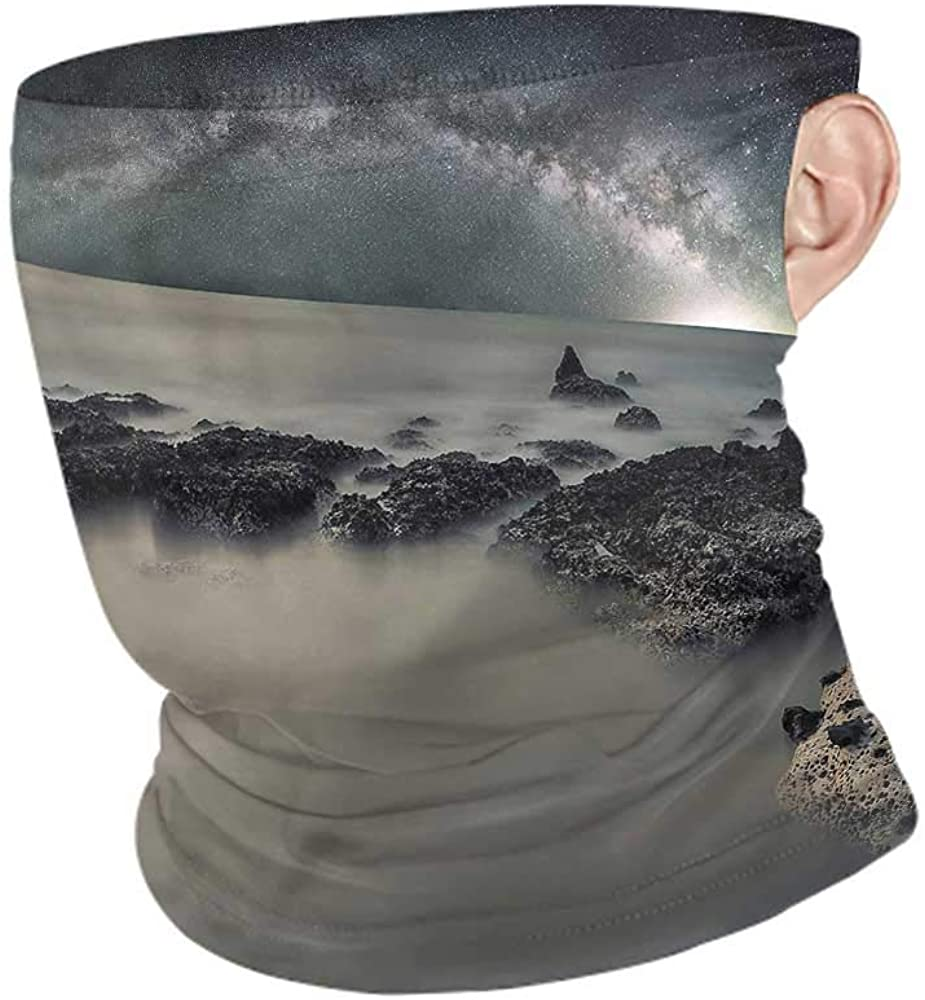 Face Bandanas Space,Milky Way Foggy Space Breathable face Covers