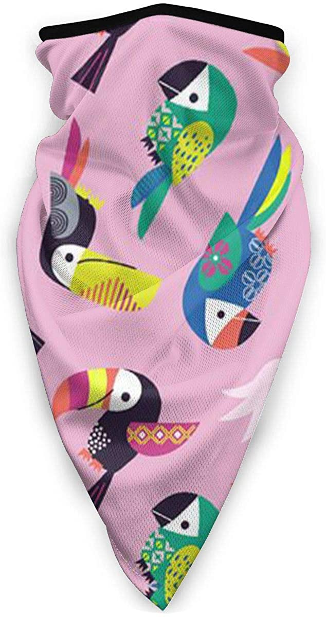Toucan Bird Animal Outdoor Face Mouth Mask Windproof Sports Mask Ski Mask Shield Scarf Bandana Men Woman