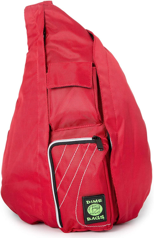 Dime Bags Slinger Bag Crossbody Bag   Premium Over the Shoulder Sling Bag   Cross Body Strap Back Pack (Crimson)