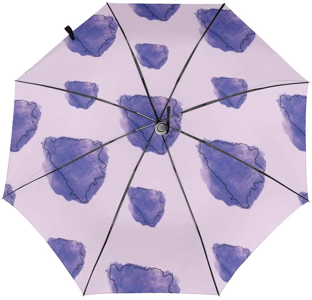 CHAN03 Bosnian Map Flag Automatic Tri-fold Sunscreen Umbrellas Folding Umbrella