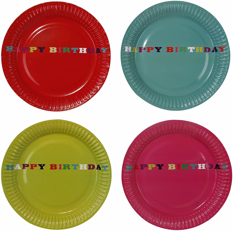 TALKING TABLES Birthday 2012 8-Pack Birthday Bash Plate