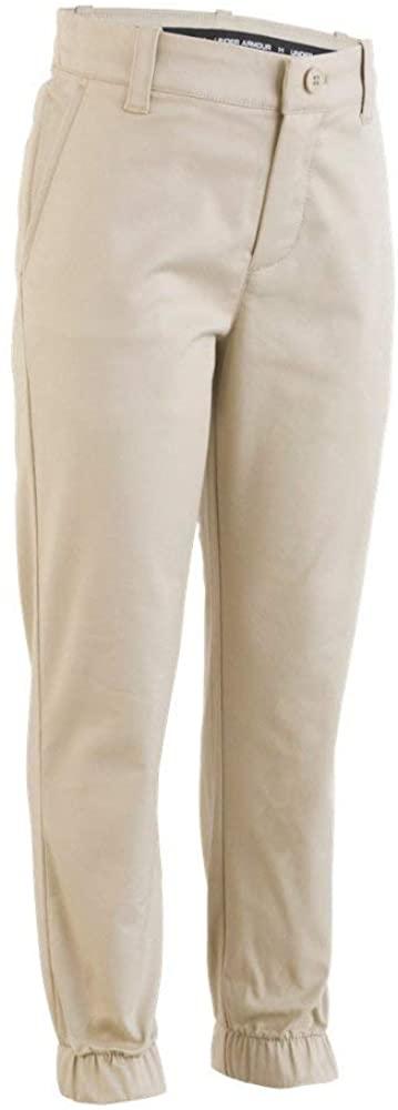 Under Armour Boys' UA Uniform Slim Fit Jogger Pants 12 Desert Sand