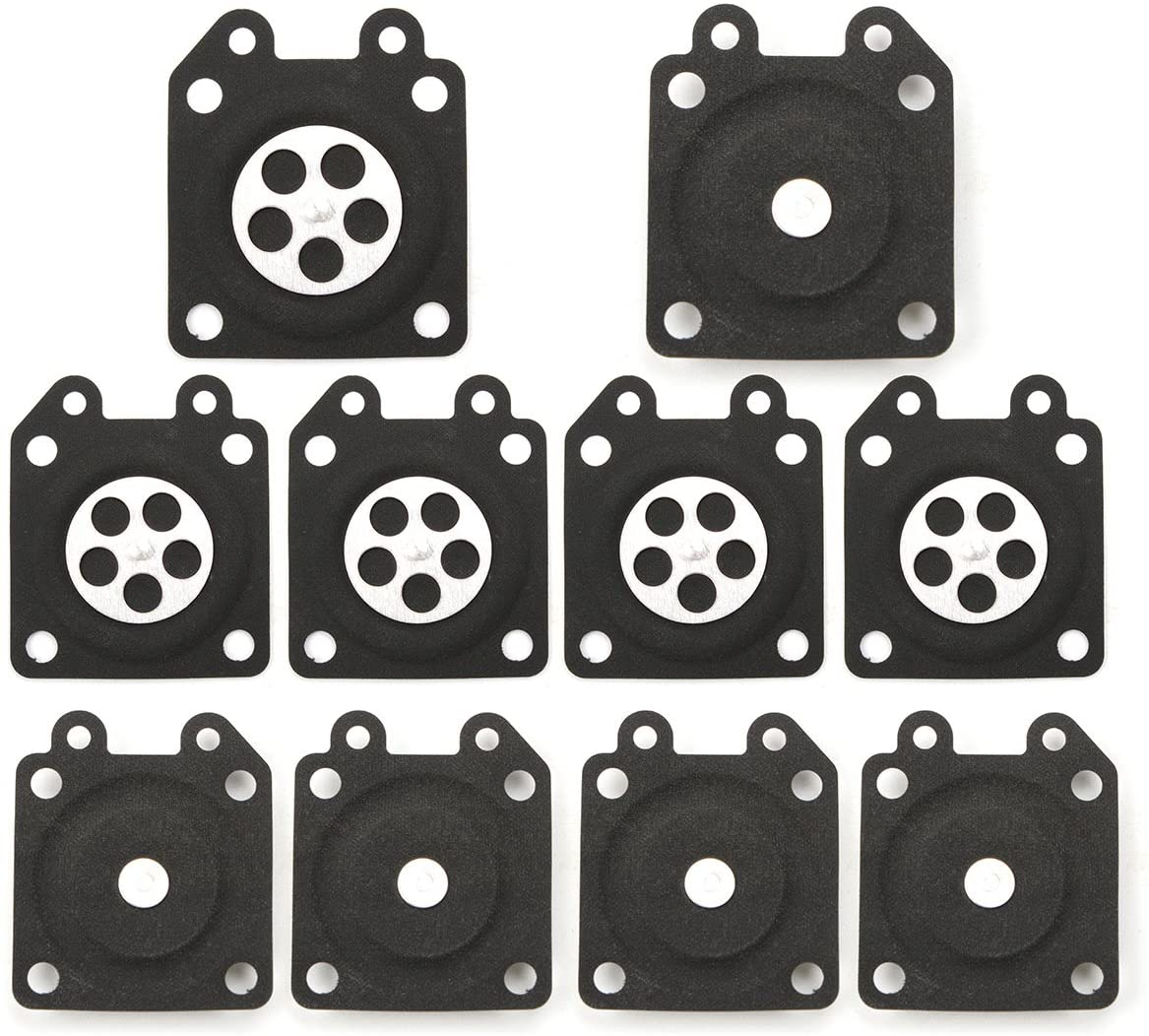 Hitommy 10pcs Carburetor Gaskets Metering Diaphragm Assembly For Walbro 95-526 -