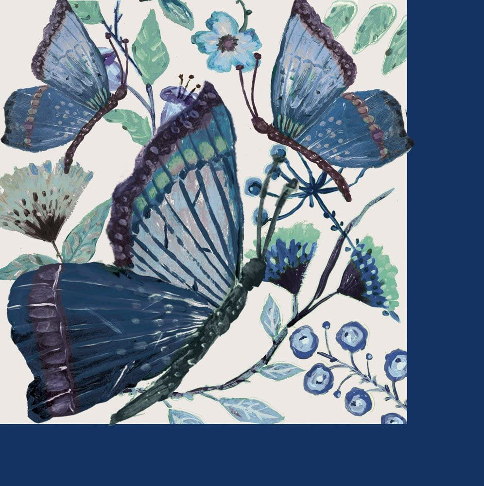 Shades of Indigo Paper Luncheon Napkin, Set of 20-7 x 1 x 7 Inches