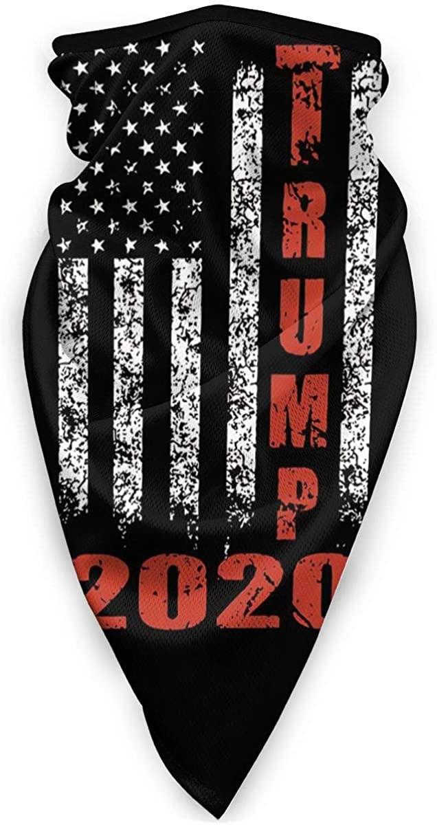 Trump 2020 American Flag Neck Gaiter Warmer Windproof Dust Face Cover Outdoor Balaclava Scarf Bandana Men Woman