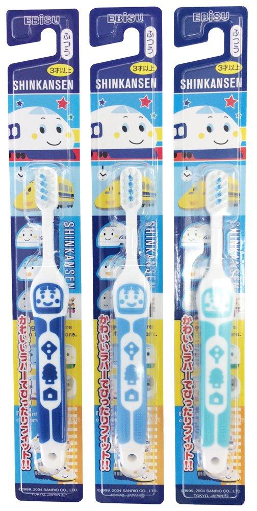 Ebisu Shinkansen rubber toothbrush 3-year-old more than three sets of color Random