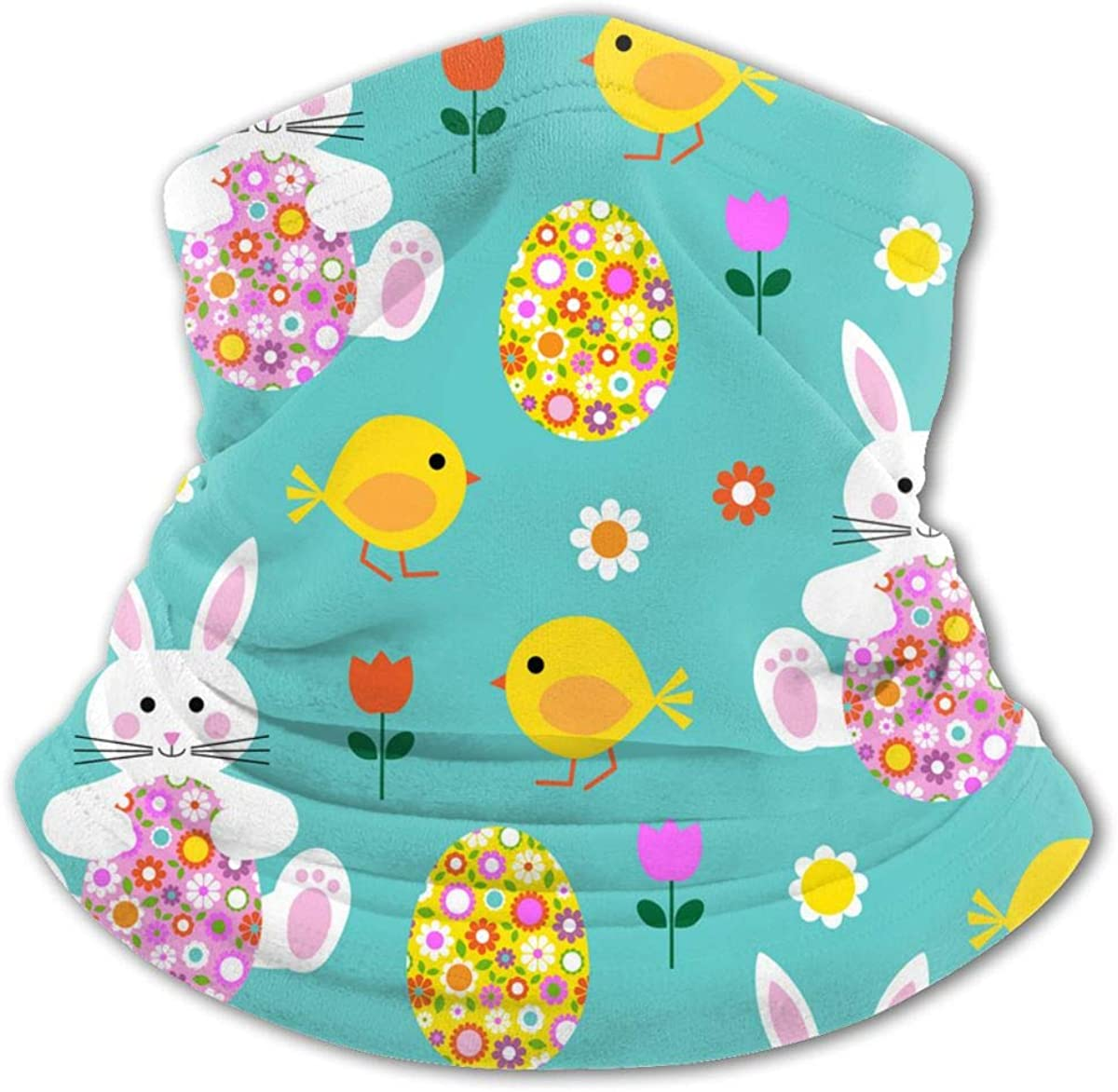 Easter Bunny Chick and Flower Egg Neck Gaiter Balaclava Bandana Headwear Cooling Scarf Variety Face Towel