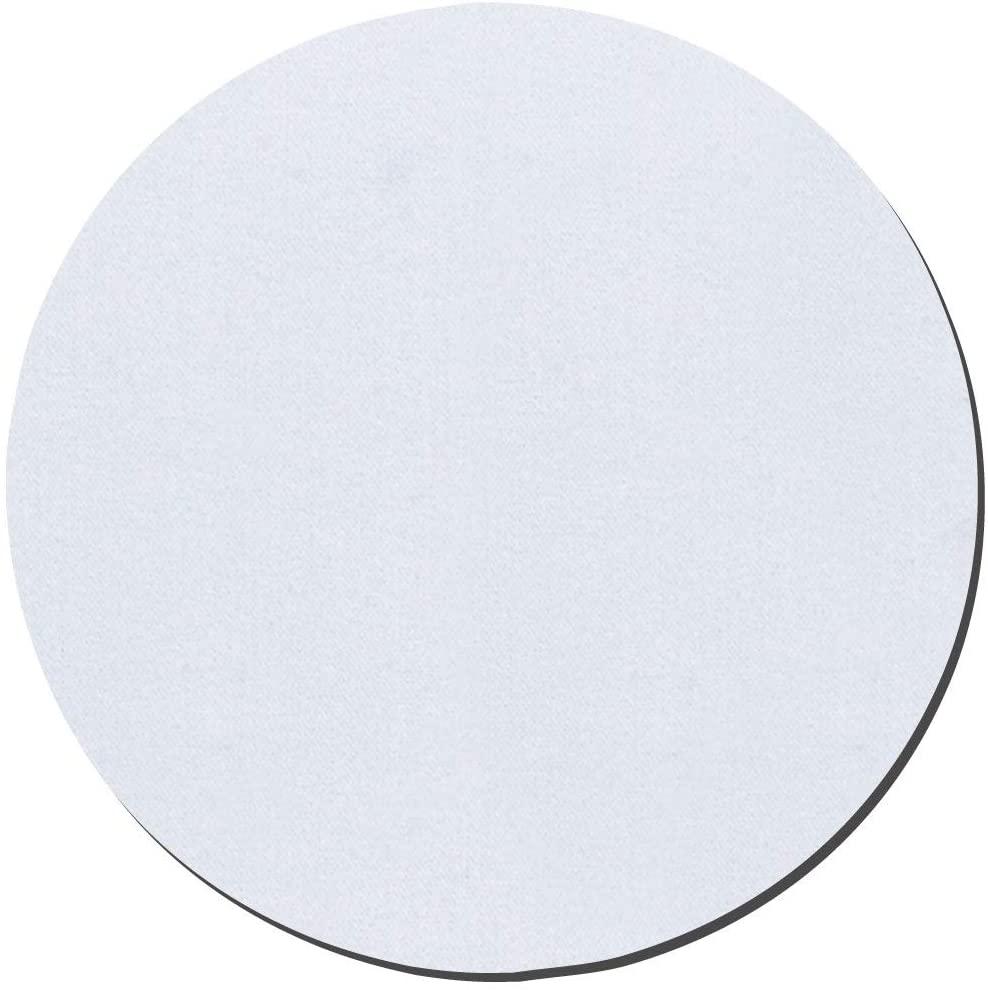 Thirsty Rhino Jeli, Soft Rubber & Jersey Neoprene Coaster, White, Set of 12 (Round)