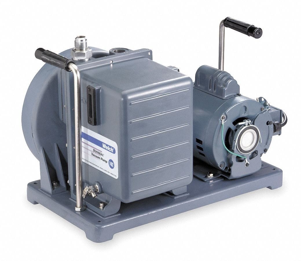Welch Vacuum 1376B-46 Duoseal Pump for Refrigeration, 115V, 60 Hz, 1 ph