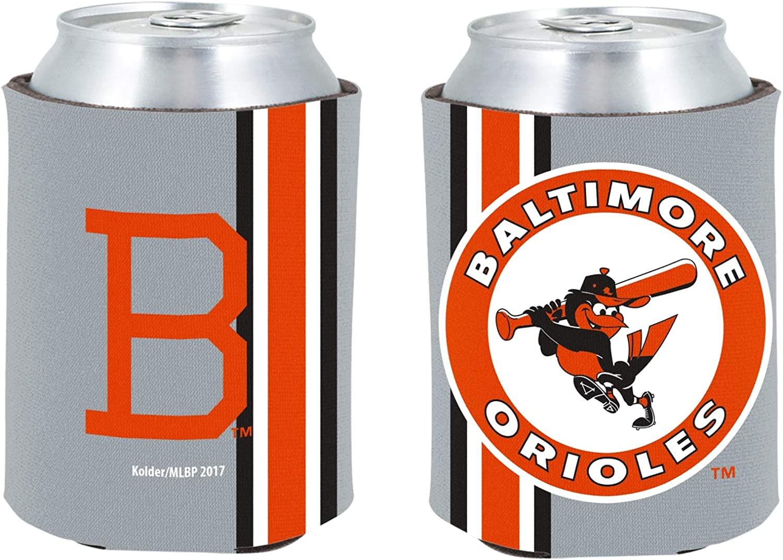 Orioles 2-Pack CAN Retro Throwback Beverage Insulator Neoprene Holder