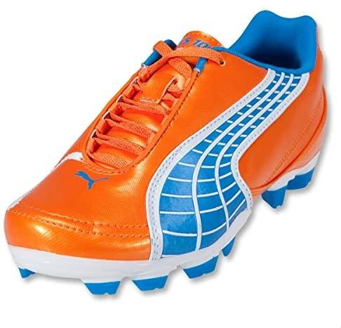 PUMA Kid's V5.10 II FG Soccer Cleats (Orange/Blue/White) (5Y)