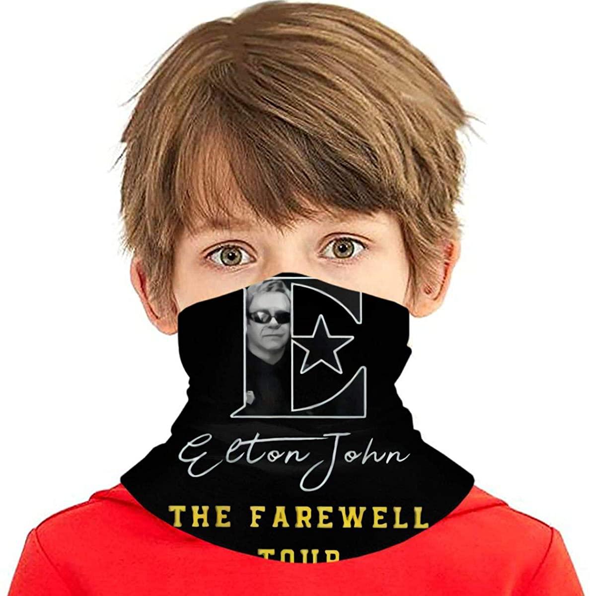 Elton John The Farewell Summer Tour 2019 Fashion Seamless Face Cover/Headband,Scarf for Boy/Girl Black