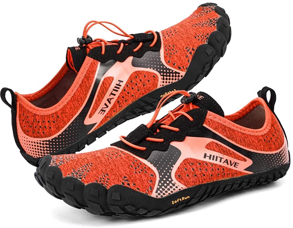 hiitave Unisex Trail Running Barefoot Shoes Lightweight Gym Athletic Walking Shoes for Outdoor Sports Cross Trainer