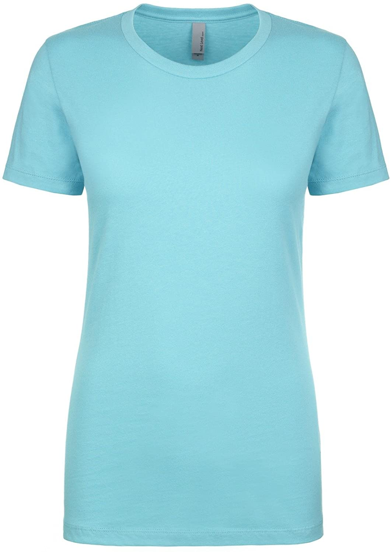 Next Level Apparel Women's Crewneck Short Sleeve T-Shirt, M, TAHITI BLUE