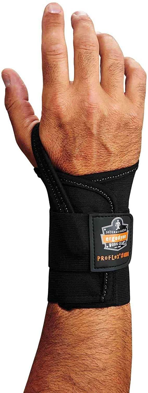 Ergodyne ProFlex 4000 Single Strap Wrist Support, Black - Medium, Right Hand