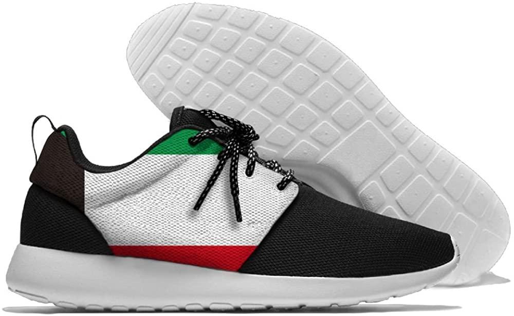 WANING MOON Kuwait Flag Men's Leisure Sport Shoes 3D Prints Shoes